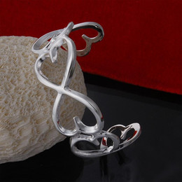 Factory direct wholesale 925 sterling silver bracelet bangles fashion three eight silver bracelet Jewelry