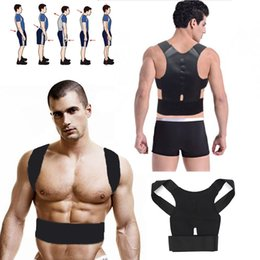 Wholesale 2016 New Braces Support Body Back Corrector Shoulder Plus Size for Men and Women Adjustable Magnetic