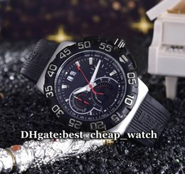 Wholesale Brand Luxury Watch Formula CAH1010 FT6026 Quartz Chronograph Grande Date F1 With Black Dial Rubber Band Gent Watch Brand Mens Sport Watch