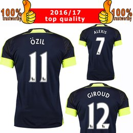 Wholesale New RD Soccer Jersey Arsenal rd Jersey Ozil Alexis Giroud Ramsey Third Football Shirt Thai Quality Shirt