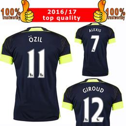 Wholesale New RD Soccer Jersey Arsenal rd Jersey Ozil Alexis Giroud Ramsey Third Football Shirt Thai Quality Shirt