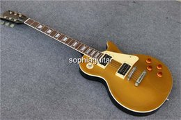 Wholesale New Golden top Mahogany body Chinese Best Electric Guitar In Stock guitarra