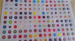 Wholesale sheet Popular Cute Cartoon Rubber Home Button Sticker for iphone s sprotection Stickers