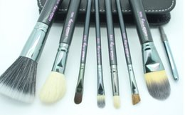 Wholesale Hello beautiful kitty7 based makeup brush sets with a makeup brush set package Beginners will use