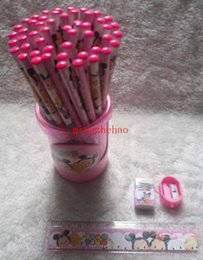 New Sale 1 Box Tsum pencils Cartoon pencils Stationery Set  Lovely pencil As Kid's Xmas Gift