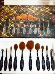 Wholesale ABH Ana stasiaToothbrush Oval Makeup Brushes Multipurpose Artis Bendable Toothbrush Shaped Cosmetic Brush Set Foundation Kit Beauty Brush