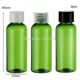 Wholesale ml green PET bottle ml shampoo shower gel ml cosmetic packaging plastic container