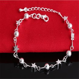 Wholesale New Fashion Jewelry Pulseras 925 Sterling Silver Bracelet Charm Bracelets for women 100% New High quality 10PCS