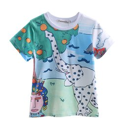 Cutestyles 2016 Summer Boy s T-shirt Wholesale Cute Cartoon Pattern Short Sleeve Clothing For Baby Kids BT90220-637F