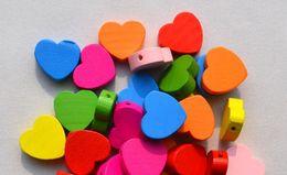 Muzhu hearts 18x4mm, fashion jewelry wholesale spacers wooden beads wood lampwork shamballa