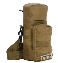 Outdoor Multi Camouflage Waist Hung A Large Water Bottle Water Bottle Pocket Bag   Kettle Bag Tactical Bag Beverage Package Plug