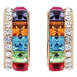 Female Austrian Crystal Earrings Fashion Jewelry made with Swarovski Elements Rhinestone Crystal Stud Earrings For Women 6919