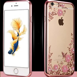 Iphone6 and 4.7 edge   6 edge mobile phone shell wholesale plating soft TPU back box cover