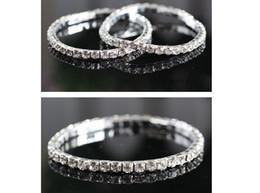 Fashion brand women girls beautiful diamante bangle bracelet punk crystal rhinestone elastic Silver plated cuff bangle