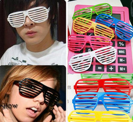 Wholesale Sunglasses Costume Wholesale - Fashion men women Sunglasses Shutter Style Party Glasses Shades Cool Fancy Dress Costume Eyewear wedding props supplies