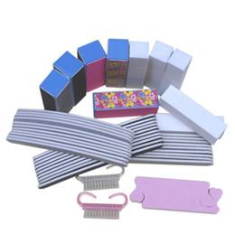 44pcs plastic nails kits Set Buffer Block Sanding file For Nail Art Manicure Nail tools for nail care