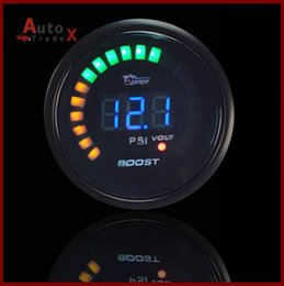 Wholesale NEW BLACK quot mm LED Digital Blue Led Turbo Boost Gauge Meter PSI Reading With Sensor