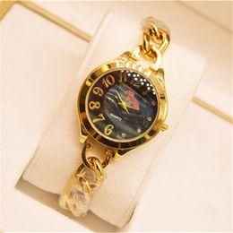 Wholesale Gves Fashion Watch Women Alloy Thin Strap Quartz Watch Analog Display Luxury Female Wristwatches Relogio Feminino Montre Bracelet Best Gifts