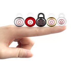 Mini 6 Bluetooth Earphone In-ear Sport Wireless Stereo Earphone Invisible bluetooth Headset Hands-free with Mic for SmartPhone iphone