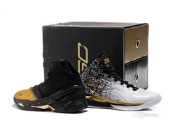 Wholesale 2016 Curry Back To Back Pack Curry MVP Basketball Shoes Men Stephen Curry Shoes Black Gold Currys Shoes