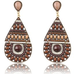 Bohmeian Women Long Earrings European Acrylic Water Drop Dangle Earrings Fashion Statement Earrings Party Vintage African Jewelry