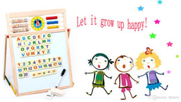 Multifunctional magnetic drawing board, with magnetic color cards. Children's educational wooden picture frame with a writing board com