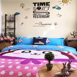 Wholesale DY qm7_7 Monkey Blue Home Textiles Bedding Suppliers Bedding sets Cartoon For Children A Large Number Of Spot