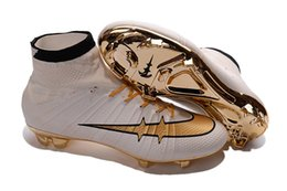 Wholesale 2016 Mans Mercurial Superfly CR7 FG Soccer Cleats Magista Obra Soccer Shoes Outdoor Champions League Football Boots Hypervenom II Cleats