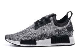 Wholesale 2016 NMD Runner Primeknit Men S Running Shoes Fashion Running Sneakers for Men and Women Size US Black