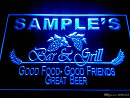 Wholesale DZ019 b Name Personalized Bar Grill Beer Wine Neon Light Sign