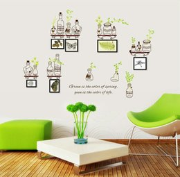 Free shipping high quality DIY Fashion Removable Living Room Background Wall Decal Photo Frame Bedroom Waterproof Wall Sticker