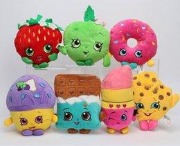 Wholesale Shopping Season Shopping Basket Plush Toys Kookie Cookie Strawberry Kiss Apple Muffin Doughnut Stuffed Dolls for Kids