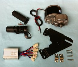 Wholesale MY1016Z2 W V V gear brush motor with Motor Controller and Twist Throttle DIY Electric Bicycle Kit