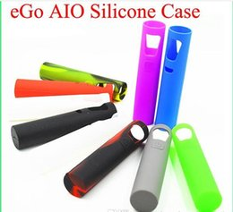 Wholesale 2016 Joyetech Ego Aio Silicon Case Joyetech Ego Aio Starter Kit Skin Bag Colorful Soft Silicone Sleeve Cover Skin DHL Free