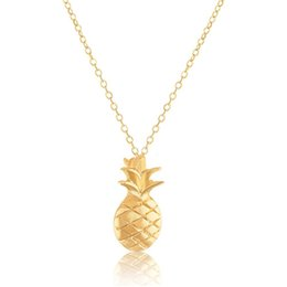 Wholesale Dainty Pinapple Necklaces Pendants Unique Friendship Jewelery Gold Chains For Women And Girl Best gift N00181