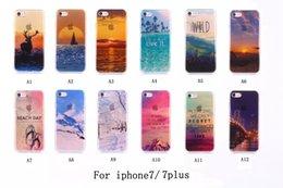 Wholesale Scenery Sunrise Soft TPU Case For Iphone I7 G Plus Plus Sea Wild Modern City Bridge Mountain Snow Village Silicone Gel Clear SkinS Cover