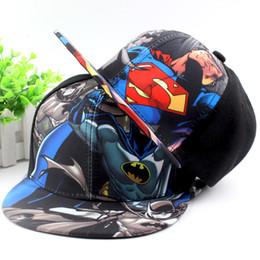 Nouvelle arrivée d'impression de mode d'enfants de bande dessinée Batman casquettes de loisirs casquette de baseball chapeaux de hip-hop Livraison gratuite à partir de hip hop enfant fabricateur