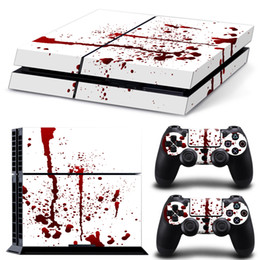 Wholesale PS4 Blood design PVC vinyl cover skin sticker for playstation PS4 console and dualshock controllers