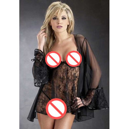 Free shipping sexy lingerie sexy underwear sexy Lace transparent lace three-piece European and American women's underwear pajamas