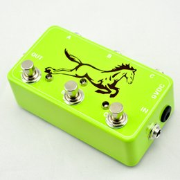 Wholesale NEW TTONE Triple Guitar Loop Pedal True Bypass Pedal Board Looper Channel Switcher Green IN STOCK