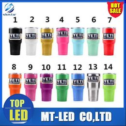 Wholesale Factory custom Colorful oz YETI Rambler Tumbler Cup oz Stainless Steel Tumbler Mugs beer car cup can be customized logo mug cups