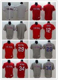 Wholesale 2016 Flexbase MLB Stitched Texas Rangers Blank Ryan Beltre Rougned Odor Blue White red Gray Baseball Jersey Mix Order