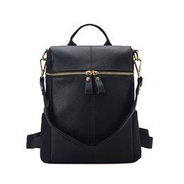 Mochila de cuero resistente al agua en Línea-2016 nueva escuela de moda caliente con estudiantes con mochila de cuero Backpack Bag Mochila impermeable paño en Oxford