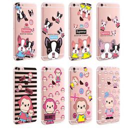 Wholesale iphone tpu Soft case cartoon bear monkey animal flower pattern print Phone Case Cover for iphone s SE s plus