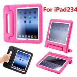 Fashion Protective Handle Stand Cover Scolour Multifonctions Kids Shock Proof Handle étui de protection pour iPad 2 3 4 Table à partir de enfants ipad poignées de cas fournisseurs