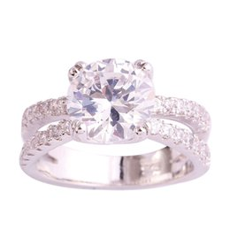 Trendy 925 Jewelry Handmade White Topaz Women Silver Ring Size 6 7 8 9 10 11 Free Shipping Wholesale
