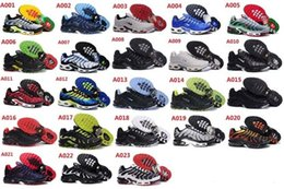 Wholesale TN Running Shoes Men New Air Cushion System With Low Sneakers For Breathable Running Training