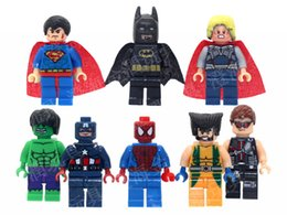 Wholesale Marvel Super Heroes Minifigures Classic Toys Building Blocks Model Bricks Figures toy without base for Y kids