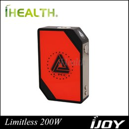 Wholesale iJoy Limitless W TC Box Mod Powered by Dual Battery with Mirror Finished Diaplay Screen w Ootput Original