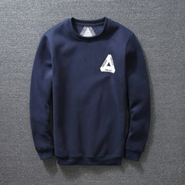 Fashion autumn winter solid thick fleece sweatshirt hoodies Tide brand PALACE Skateboards basic hoodie casual sports tops black navy blue